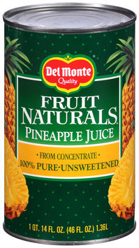 Del Monte® Fruit Naturals™ Pineapple Juice 46 fl. oz. Can