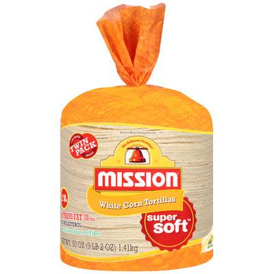 Mission® White Corn Tortillas 2-30 ct Bags