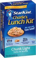 StarKist® Charlie's Lunch Kit® Chunk Light Tuna in Water 4.48 oz. Box