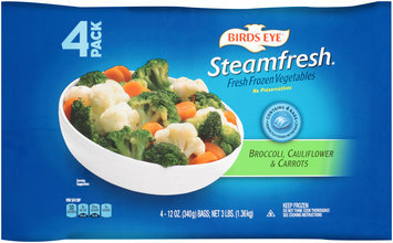 Birds Eye® Steamfresh® Broccoli Cauliflower & Carrots 4-12 oz. Bags