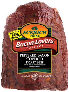 Eckrich Bacon Lovers Peppered Bacon Covered Roast Beef Deli Meat