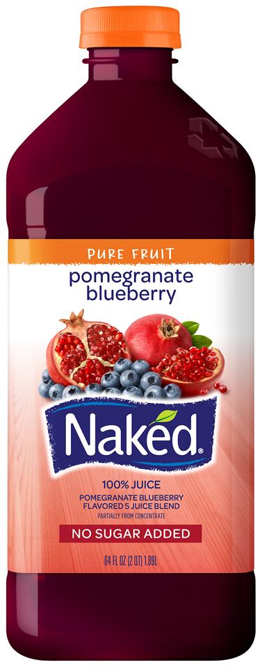NAKED JUICE Pomegranate Blueberry 100% Juice 64 OZ PLASTIC BOTTLE