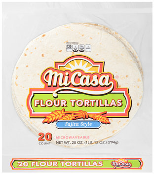 Mi Casa® Fajita Style Flour Tortillas 20 ct Bag
