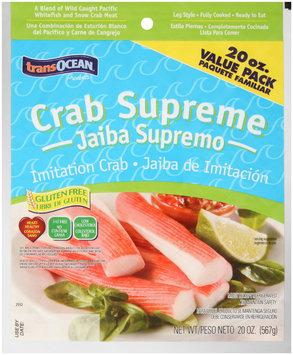 TransOcean® Products Crab Supreme Leg Style Imitation Crab 20 oz. Bag