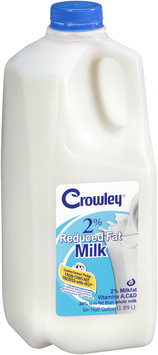 Crowley® 2% Reduced Fat Milk 1/2 gal. Jug