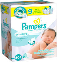 Sensitive Pampers Baby Wipes Sensitive 9X 504 count