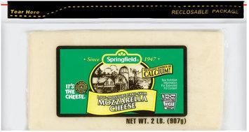 Springfield Mozzarella Low-Moisture Part-Skim Cheese 2 Lb Brick