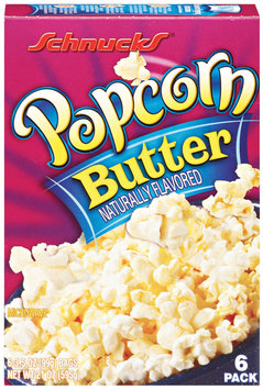 Schnucks Butter 3.5 Oz Bags Microwave Popcorn 6 Ct Box