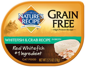 Nature's Recipe® Grain Free Whitefish & Crab Recipe in Broth Cat Food 2.75 oz. Container