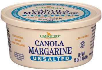 Canoleo® Unsalted Canola Margarine 16 oz. Tub