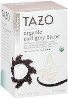 Tazo® Organic Earl Grey Blanc Black Tea Tea Bags 20 ct. Box