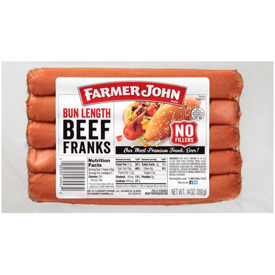Farmer John® Bun Length Beef Franks 5 Pack