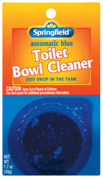 Springfield Automatic Blue Toilet Bowl Cleaner 1.7 Oz Peg