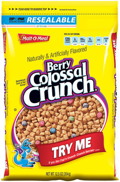 Malt-O-Meal® Berry Colossal Crunch® Cereal 12.5 oz. ZIP-PAK®