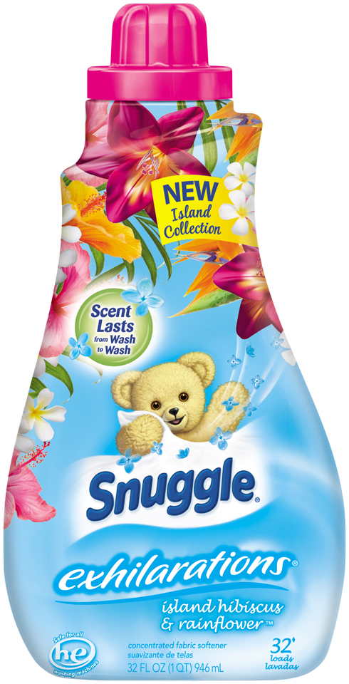Snuggle® Exhilarations® Island Hibiscus & Rainflower™ 32 Loads Concentrated Fabric Softener 32 fl. oz. Bottle