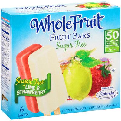 Whole Fruit® Sugar Free Lime & Strawberry Fruit Bars 6 ct Box