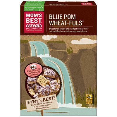 Mom's Best® Cereals Blue Pom Wheat-fuls® Cereal 15.5 oz. Box