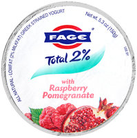 Fage® Total 2% Lowfat Greek Strained Yogurt with Raspberry Pomegranate 5.3 oz. Cup