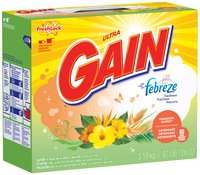 Gain® Ultra Febreze Hawaiian Aloha with FreshLock Powder Laundry Detergent 126 oz. Box