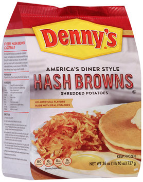 Denny's® America's Diner Style Hash Browns Shredded Potatoes 26 oz. Bag