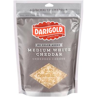 Darigold® Medium White Cheddar Shredded Cheese 8 oz. Bag