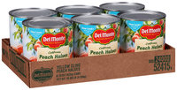 Del Monte™ California Yellow Cling Peach Halves in Heavy Syrup 6-29 oz. Cans