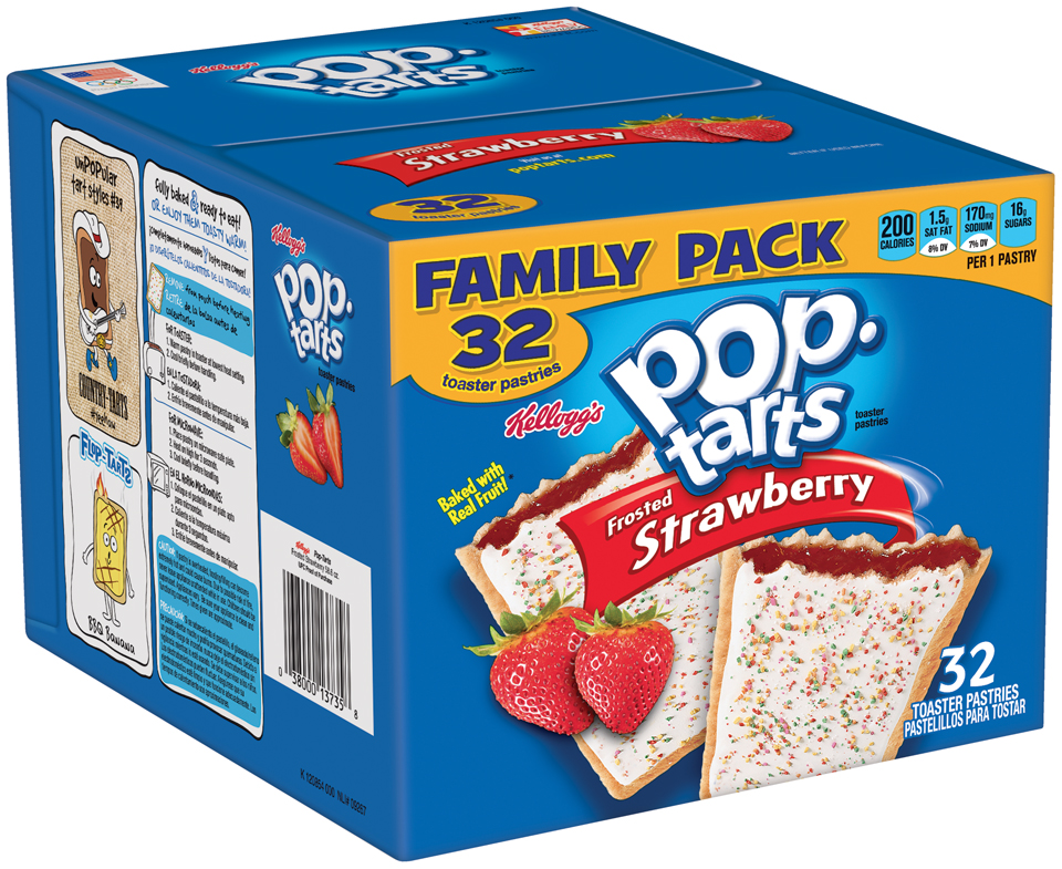 Kellogg's® Pop-Tarts® Frosted Strawberry Toaster Pastries 32 ct Box