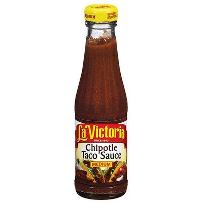 La Victoria® Medium Chipotle Taco Sauce 8 oz. Glass Bottle
