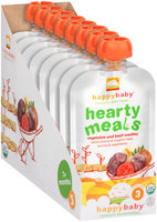 Happy Baby® Hearty Meals Vegetable & Beef Medley Organic Baby Food 8-4 oz. Pouches
