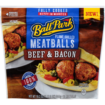 Ball Park® Beef & Bacon Flame Grilled Meatballs 19.2 oz. Stand Up Bag