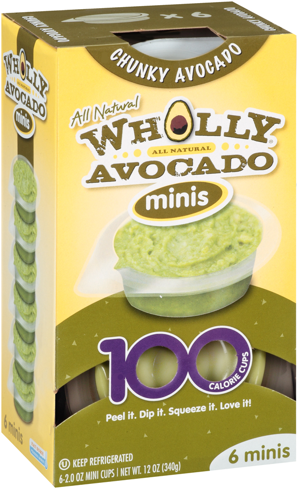 Wholly Avocado® 100% All Natural Chunky Avocado Minis 6-2 oz. Mini Cups