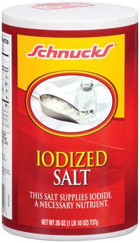 Schnucks Iodized Salt 26 Oz Canister