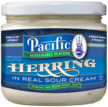 Pacific Sustainable Seafood™ Premium Fillet of Herring in Real Sour Cream 12 oz. Jar
