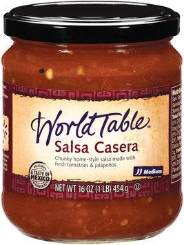 World Table Casera Medium Salsa 16 Oz Jar