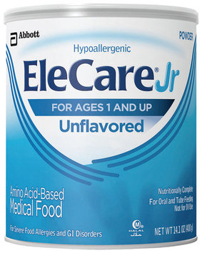 Elecare Jr Unflavored For Ages 1 and Up Medical Food 14.1 Oz Can