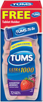 Tums® Ultra Strength 1000 Antacid Calcium Carbonate Assorted Berries Chewable Tablets 72 ct Box