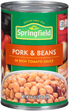 Springfield® Pork & Beans 16 oz. Can