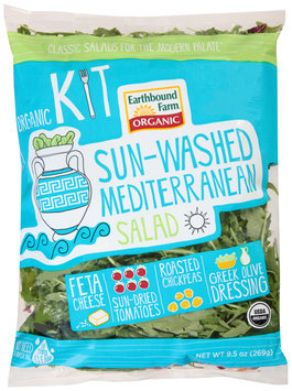 earthbound farm® organic sun-washed mediterranean salad kit