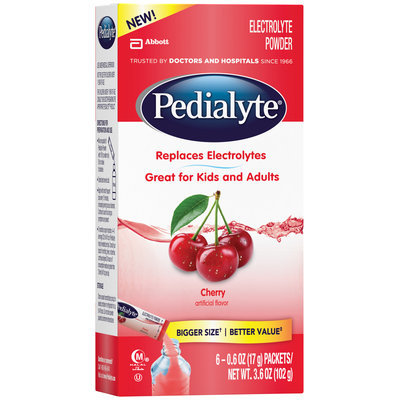 Pedialyte® Cherry Electrolyte Powder 6-0.6 oz. Packets