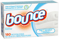 Bounce Free Fabric Softener Sheets 180 ct Box