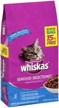 Whiskas® Seafood Selections® Salmon & Shrimp Flavors Dry Cat Food 3.45 lbs.