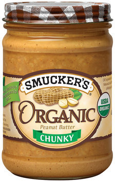 Smucker's Natural Organic Chunky Peanut Butter 16 Oz Jar