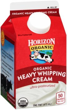 Horizon Organic® Organic Heavy Whipping Cream 1 pt. Carton
