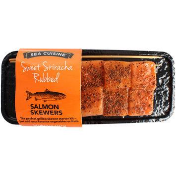 Sea Cuisine® Sweet Sriracha Rubbed Salmon Skewers 8 oz. Tray
