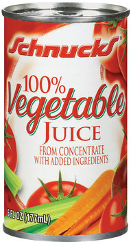Schnucks from Concentrate W/Added Ingredients Vegetable Juice 6 Oz Can