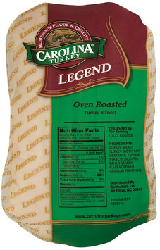 Carolina Turkey Oven Roasted Legend Turkey Breast 1 Ct Wrapper