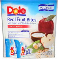 Dole Real Fruit Bites Apple Chunks, 0.75 oz, 6 count Stand Up Bag