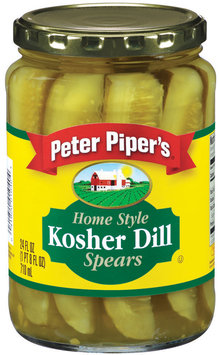 Peter Piper's Home Style Kosher Dill Spears Pickles 24 Oz Jar