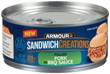 Armour® Sandwich Creations™ Pulled Pork in BBQ Sauce 10 oz. Can
