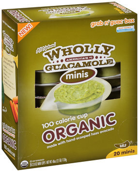 Wholly Guacamole® Organic Guacamole Minis 2 Mini Cups